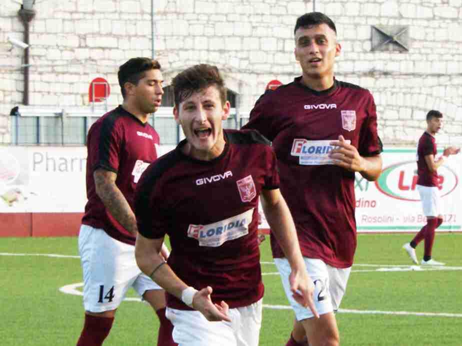 Il Rosolini batte il Palazzolo nella tana del leone, Luigi Ricca sigla il gol partita