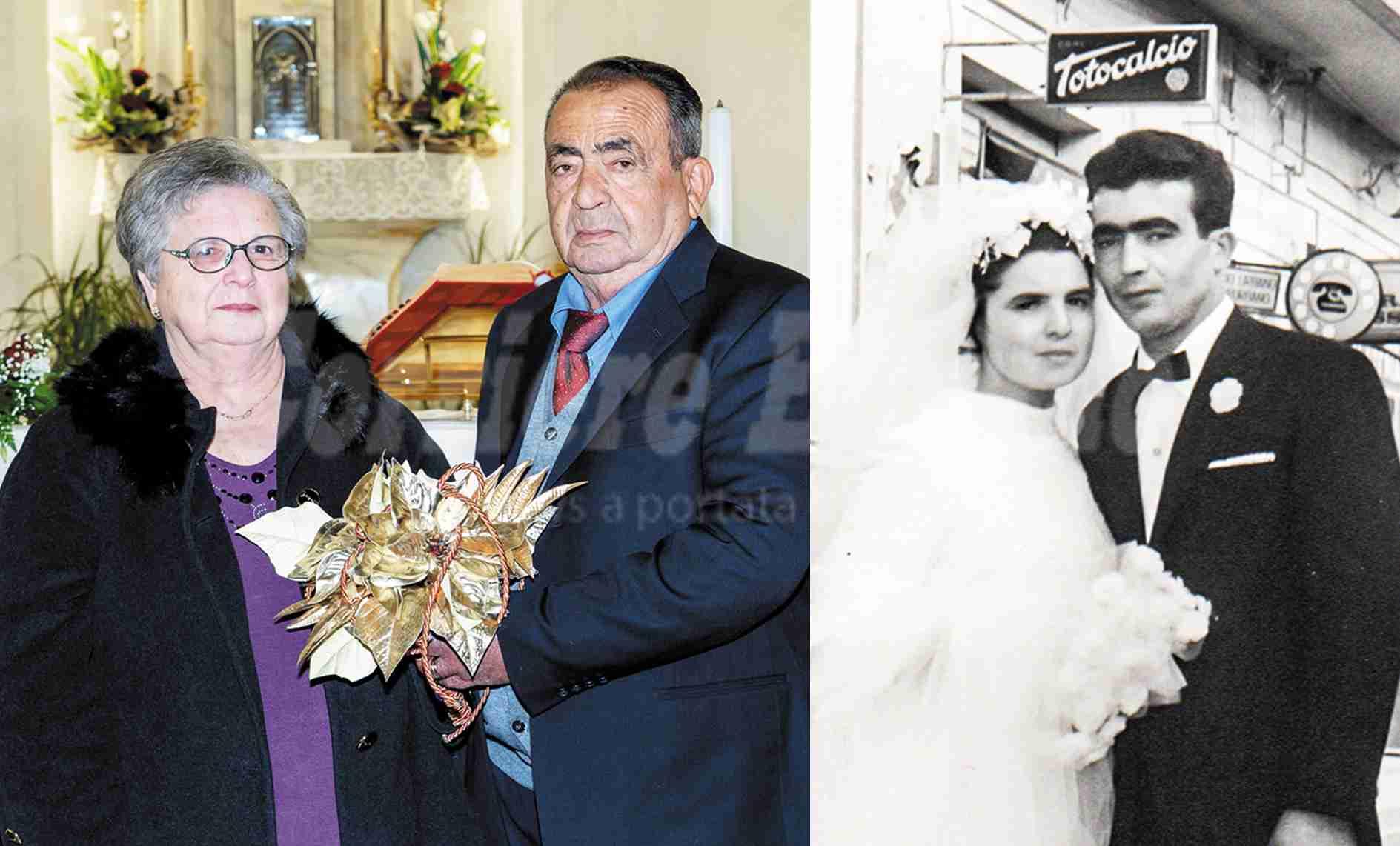 Nozze d'oro: mezzo secolo d'amore per la coppia Giuseppe Spadaro e Lucia Calleri