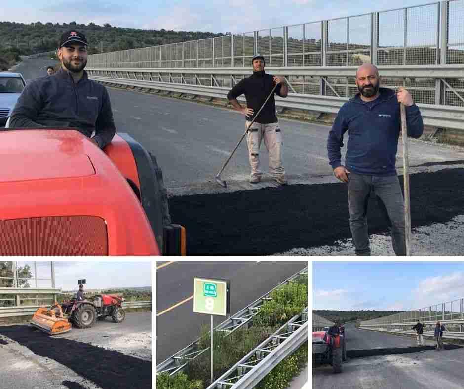 Contrada San Paolo: privati cittadini ripristinano a proprie spese il manto del Ponte che attraversa l'Autostrada