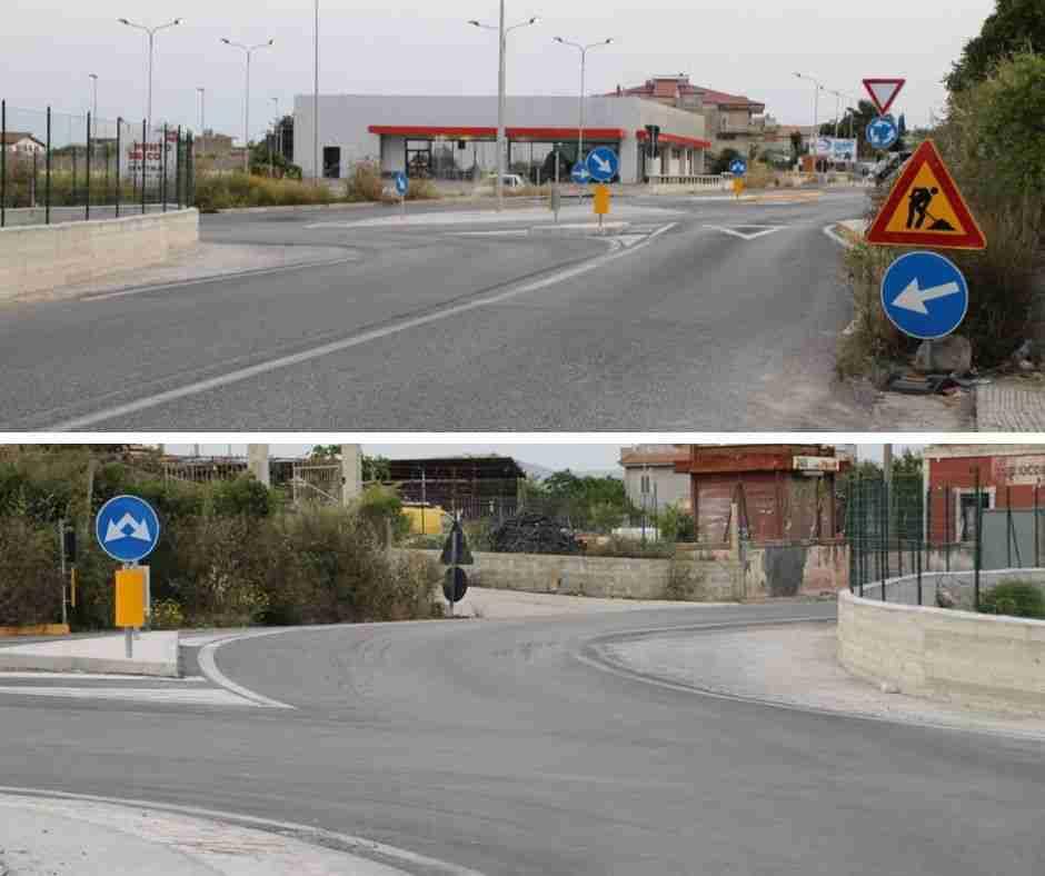 Completati i lavori di allargamento della rotonda Lidl di Contrada Codalupo: niente più manovra per gli autotreni