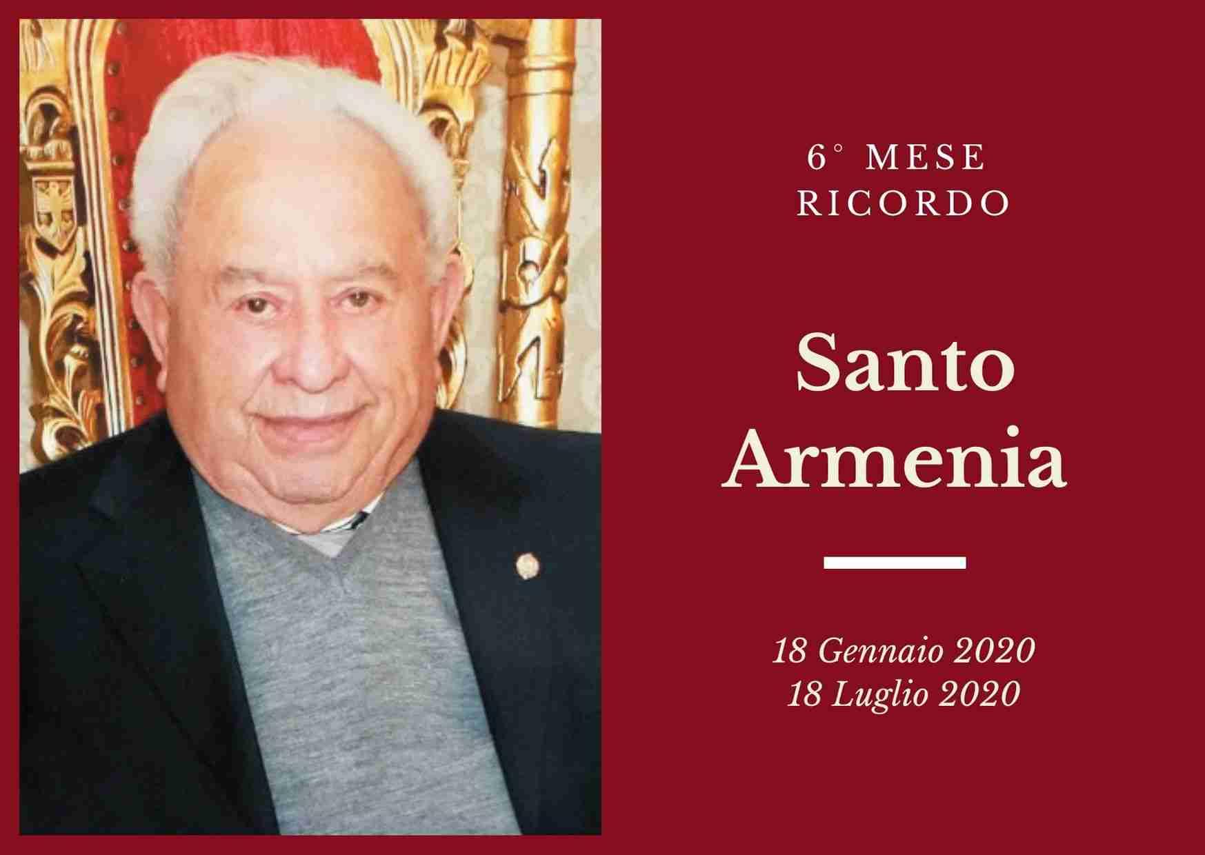 Ricordo: 6 mesi fa saliva in cielo Santo Armenia