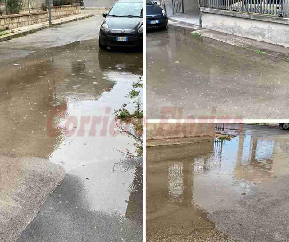 La segnalazione del cittadino – Via delle Orchidee: quando piove l'acqua non defluisce