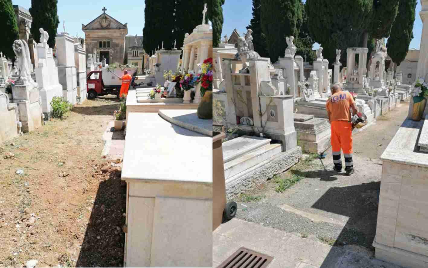 Ritorna il decoro al cimitero comunale, meglio tardi che mai