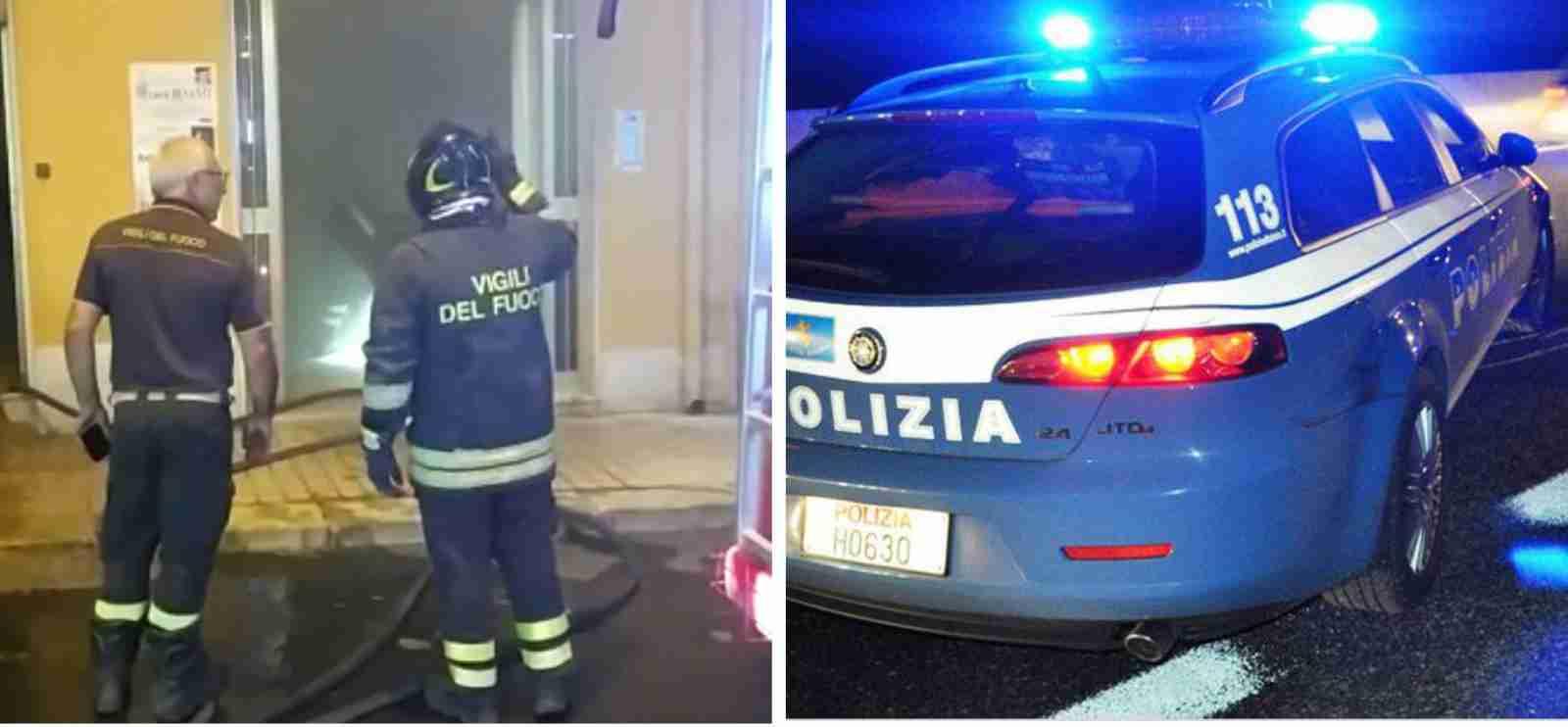 Avola: poliziotti eroi salvano da un incendio coppia di anziani e nipote