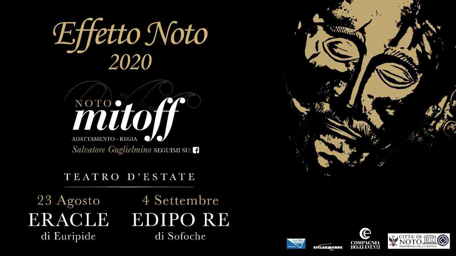 """Effetto Noto: il 23 agosto e il 4 settembre il teatro classico fa tappa a Noto con """"Eracle"""" ed """"Edipo Re"""""""