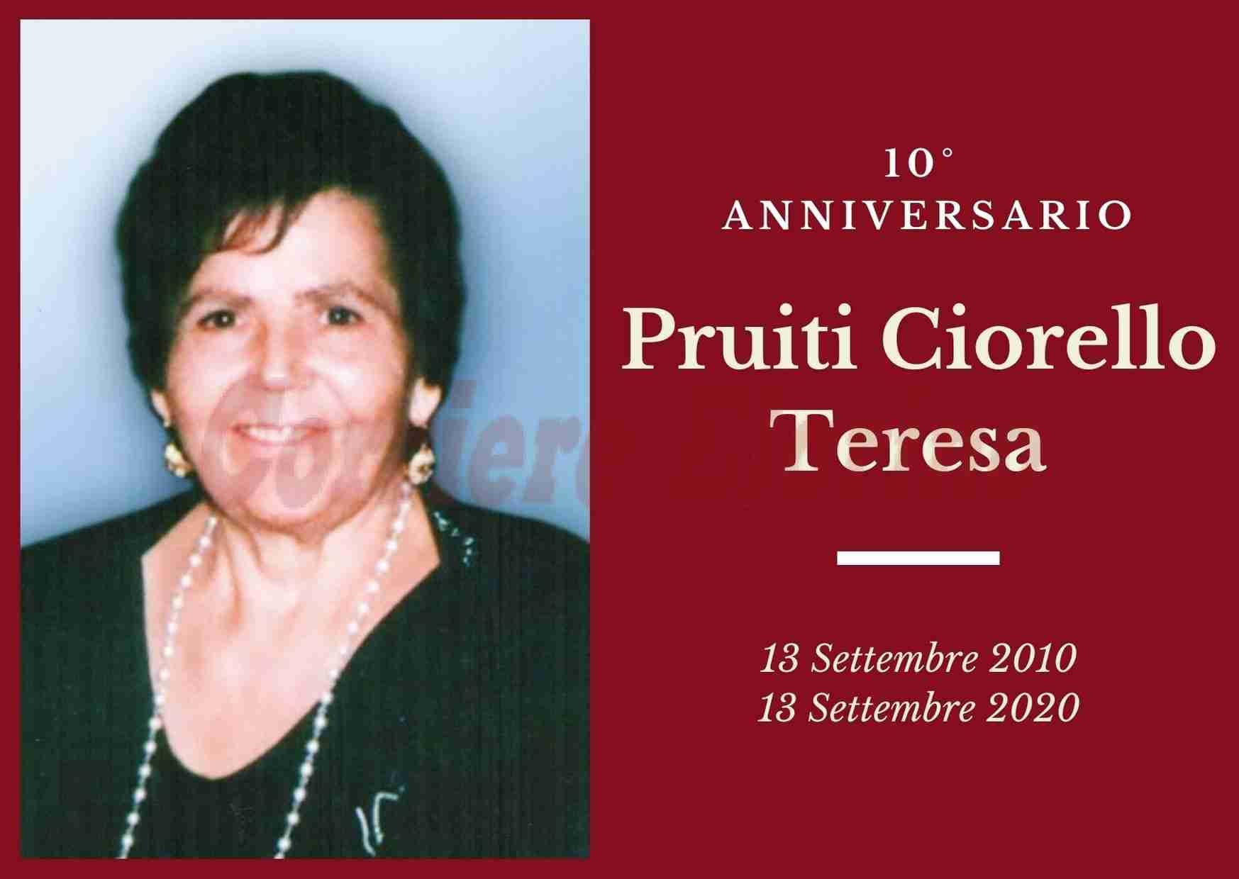 Necrologio: ricorre oggi il 10° Anniversario di Teresa Pruiti Ciorello