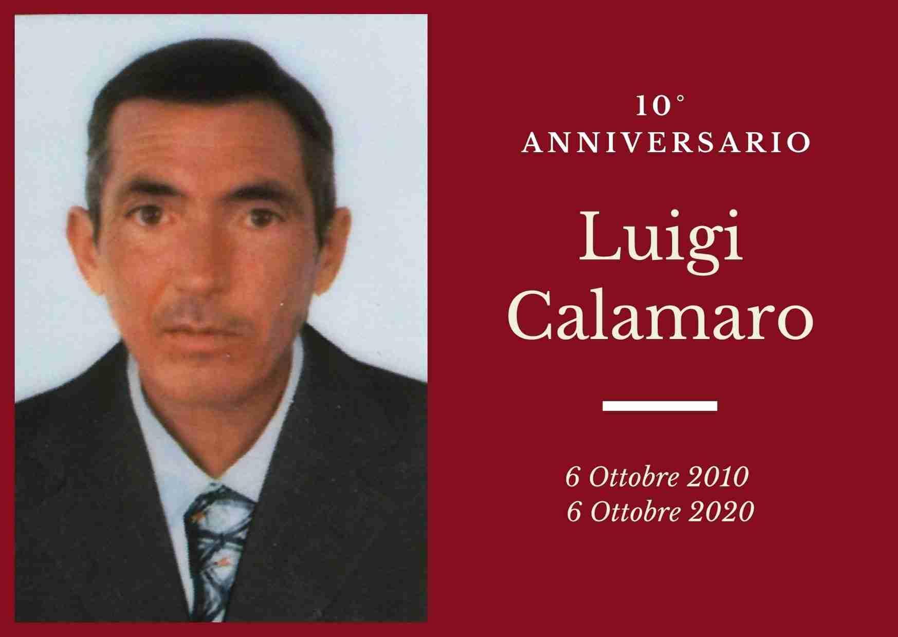 Necrologio: ricorre oggi il 10° Anniversario di Luigi Calamaro