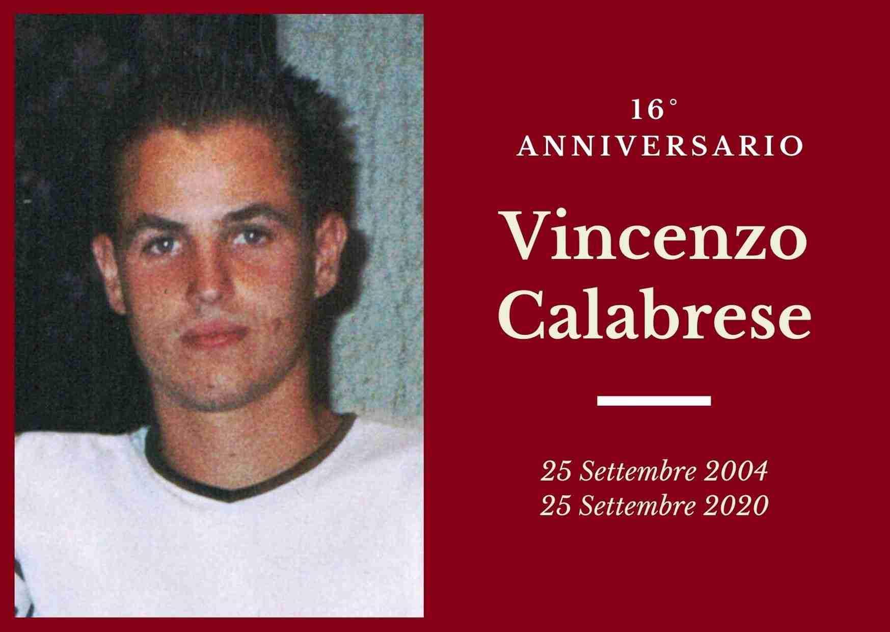 Necrologio: ricorre oggi il 16° Anniversario di Vincenzo Calabrese