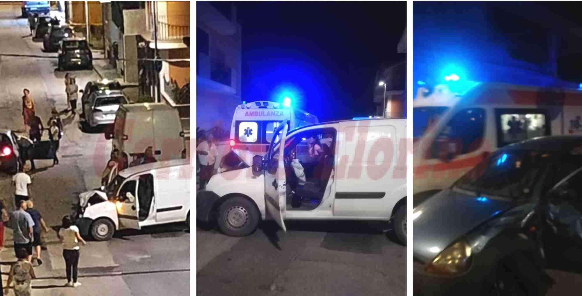 Incidente in Via Alighieri, 4 giovani finiscono all'ospedale