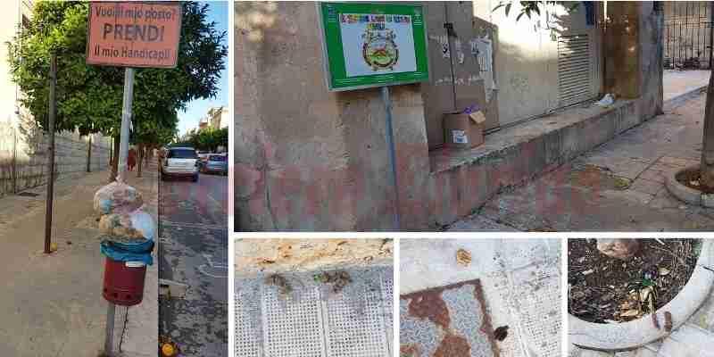 """La segnalazione: """"Escrementi di cani e spazzatura davanti alla scuola, così si accolgono gli alunni?"""""""