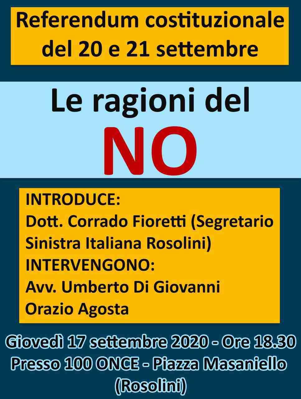 """Referendum: domani pomeriggio conferenza stampa di Sinistra Italiana sulle ragioni del """"No"""""""