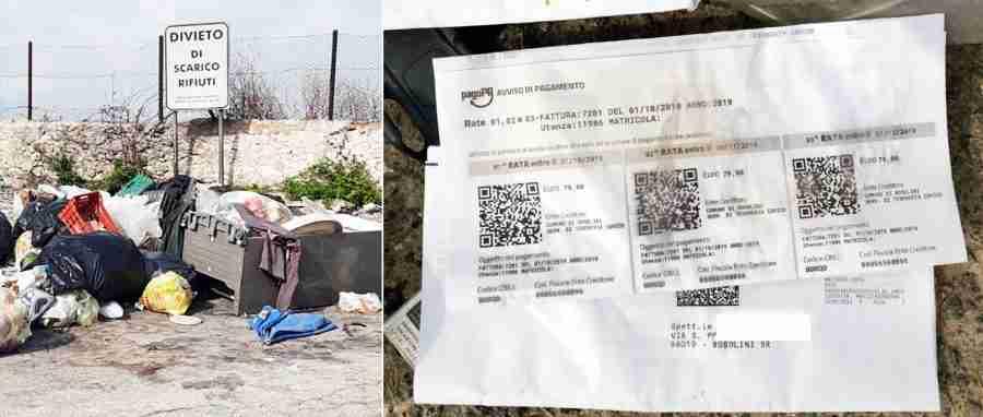 Torna il degrado nella Strada Provinciale 11, tra i rifiuti anche bollette non pagate