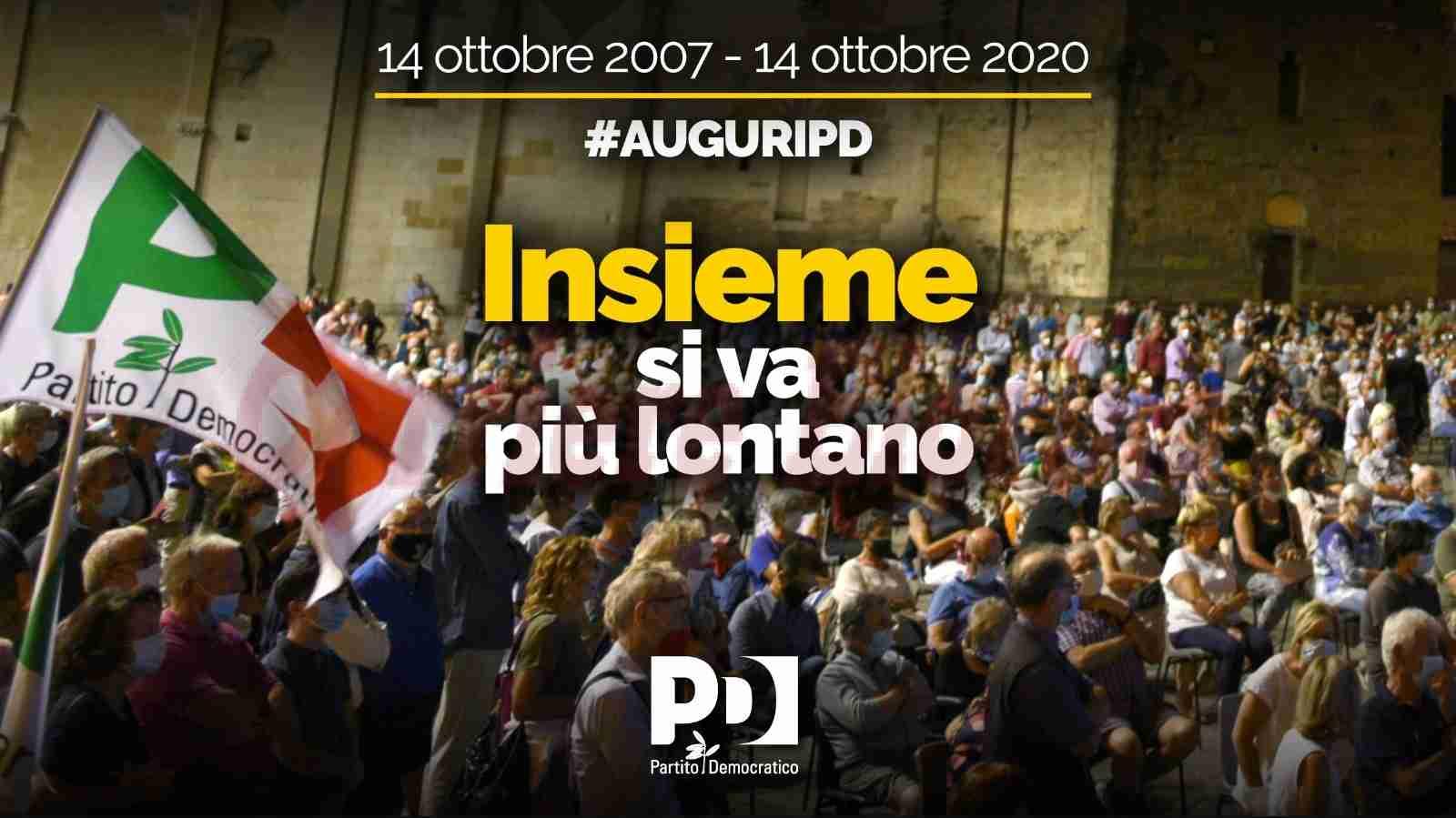"""Oggi il Pd compie 13 anni, il Circolo Rosolini: """"Auguri al nostro partito, orgogliosi di essere democratici"""""""