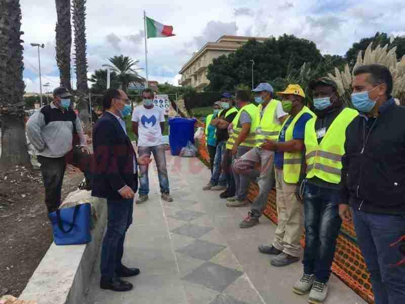 """Cantiere regionale, il Sindaco incontra i lavoratori: """"Pagamento entro la fine del mese"""""""