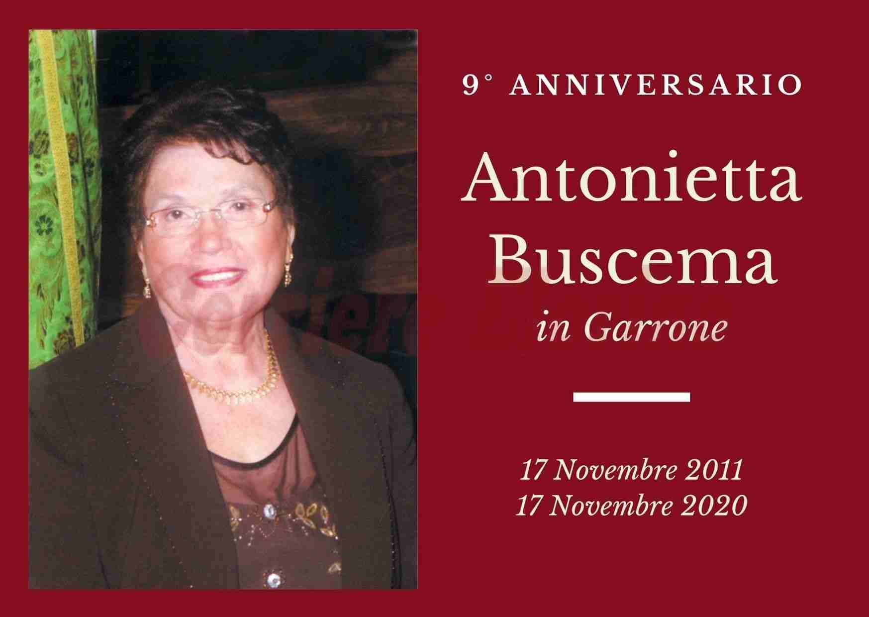 Necrologio: ricorre oggi il 9° anniversario di Antonietta Buscema
