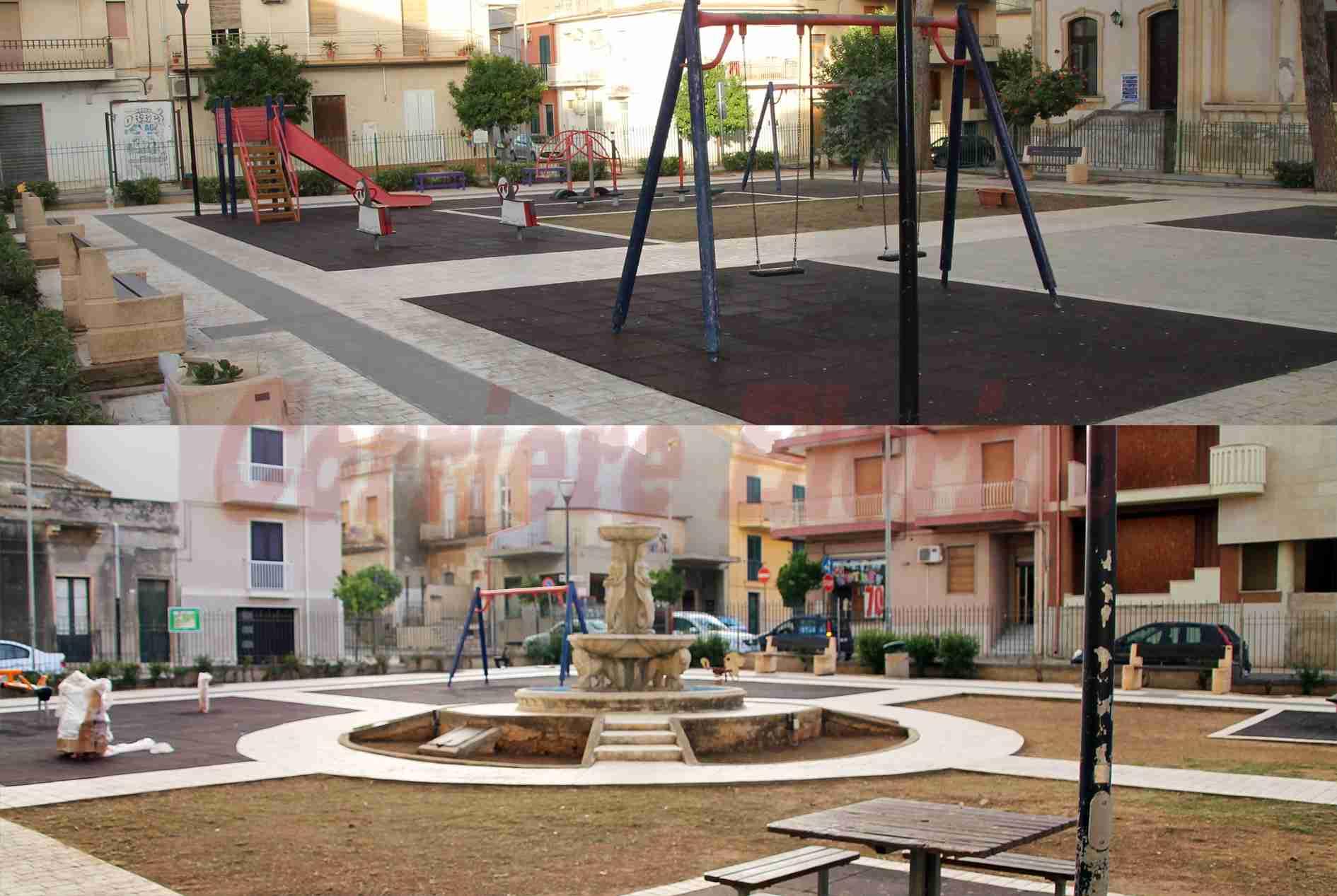 Pulizia costante della piazza XXIV Maggio grazie ai privati Luigi Trombatore e Fabrizio Zini