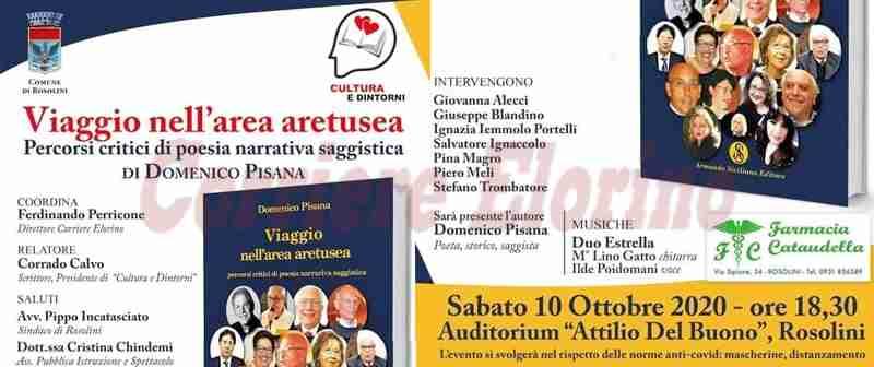 """Domani altro appuntamento di Cultura e Dintorni con il libro """"Viaggio nell'area aretusea"""" di Domenico Pisana"""