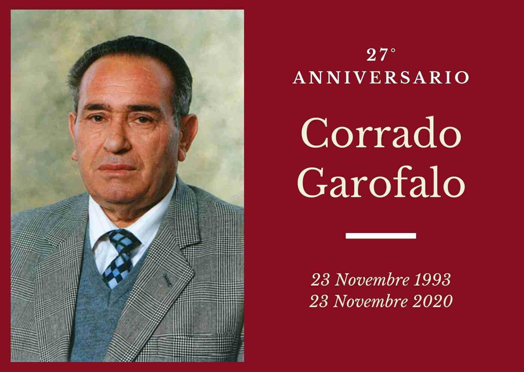 Necrologio: ricorre oggi il 27° anniversario di Corrado Garofalo