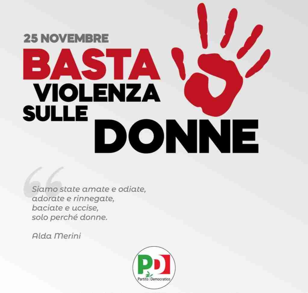 """Il PD Rosolini: """"A fianco delle donne e contro ogni forma di violenza"""""""