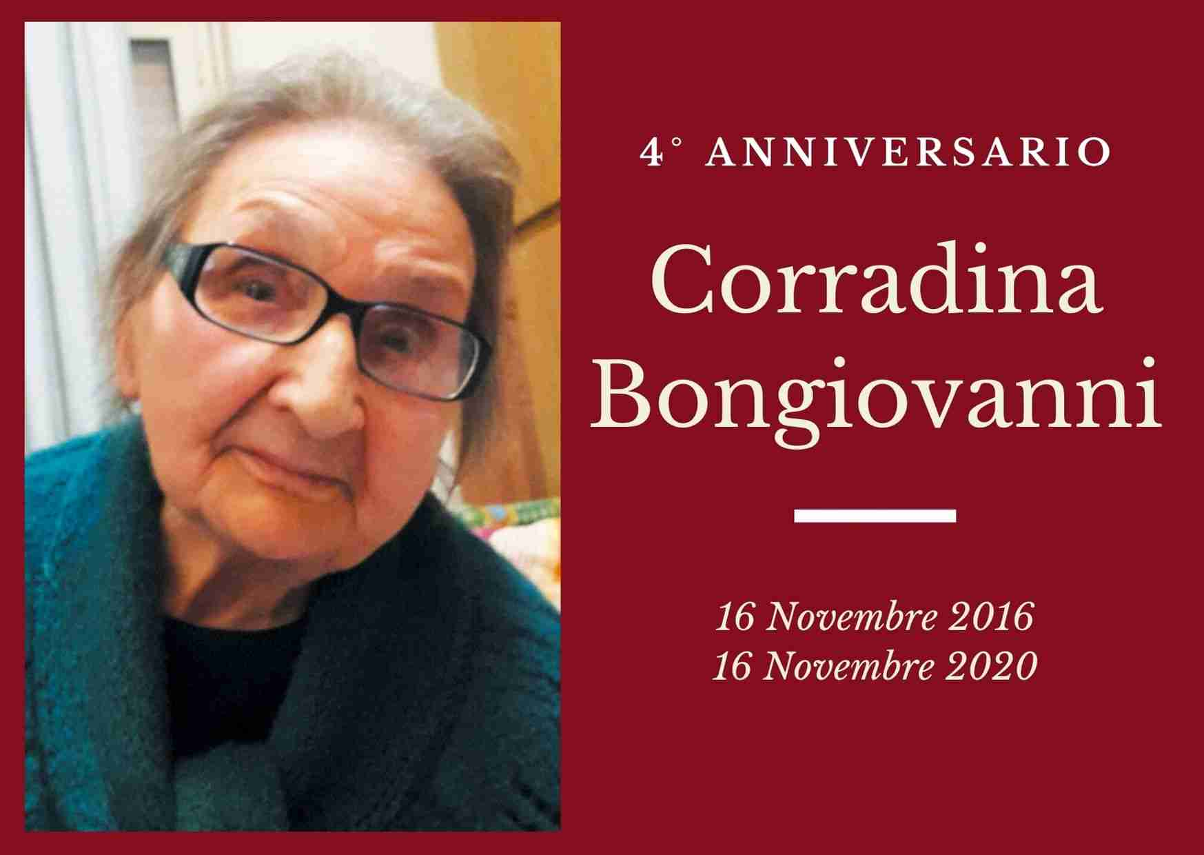 Necrologio: ricorre oggi il 4° anniversario di Corradina Bongiovanni