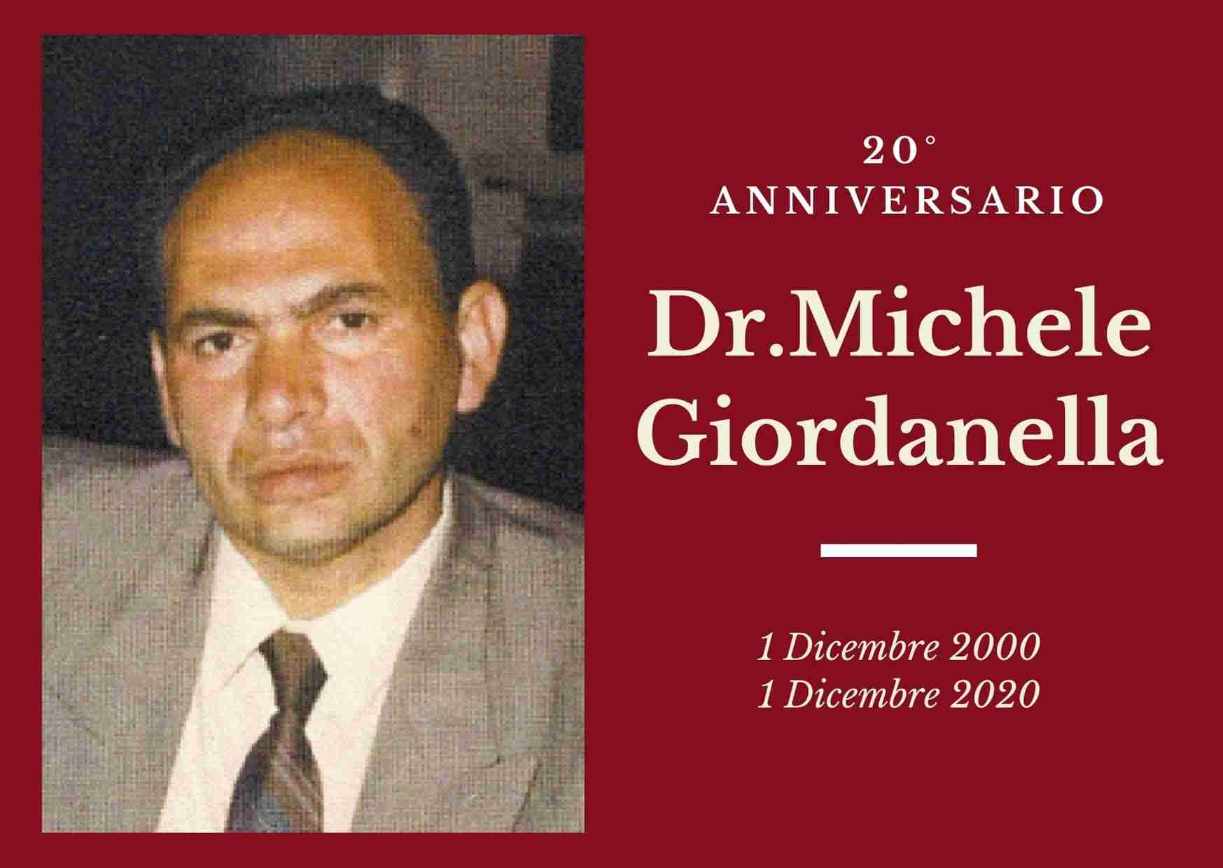 Necrologio: l'1 dicembre è ricorso il 20°anniversario del Dott. Michele Giordanella
