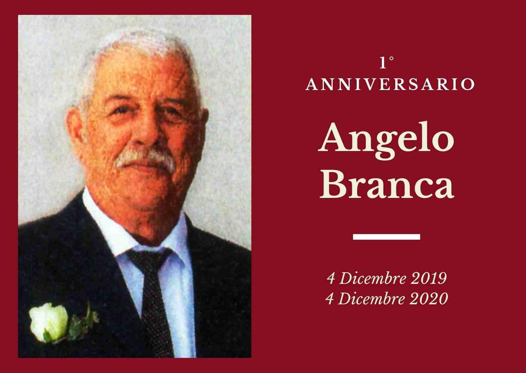 Necrologio: ricorre oggi il 1° anniversario di Angelo Branca (Mimmo)