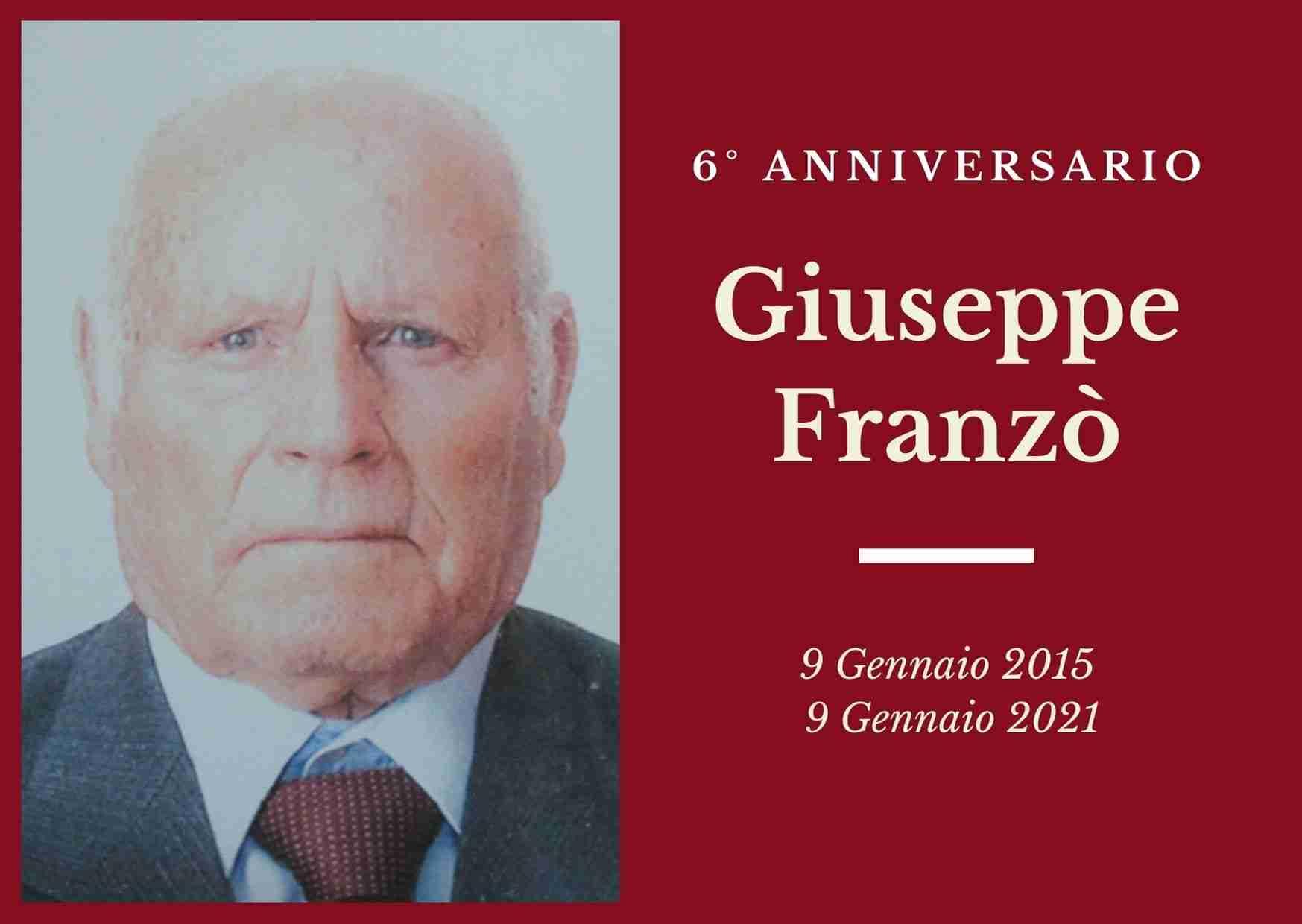 Necrologio: ricorre oggi il 6° anniversario di Giuseppe Franzò