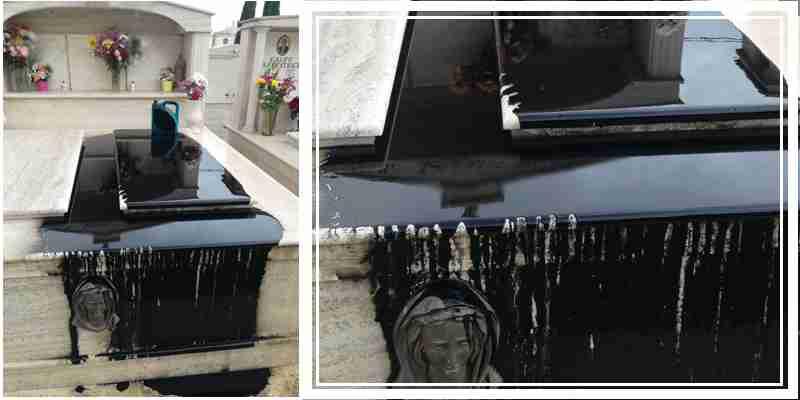 """Pioggia di solidarietà all'agente di Polizia Municipale: """"Inqualificabile insulto alla tomba di famiglia"""""""