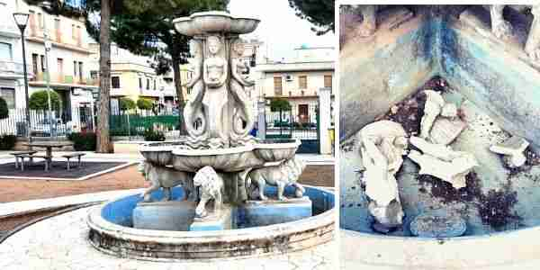 Vandalizzata la fontana dei parchi giochi Evan, distrutti alcuni particolari